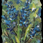 Blue Lupine -Collage -24x18