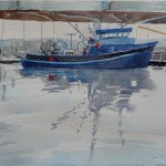 Fishing Boat, Monterey-Watercolor- 16 x 20