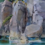 High Cliffs Rubicon Point -Watercolor -41x29