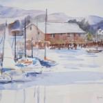 Monterey Harbor-Watercolor-9 x 12
