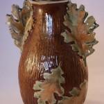Oak Lidded Jar - ceramic