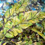 Princeville Banana Leaves -Collage -30x30