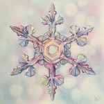 Snowflake -watercolor -8x8