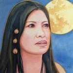 Coyolxanhqui- watercolor- 8x8