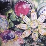 Lichen Jewelry- watercolor- 13x17
