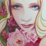 Bloodued- watercolor- 8x8