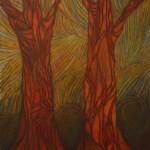 Trees -oil pastel -24x19