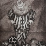 Untitled (Clown)-Etching Print-10x8
