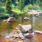 Carson River Rocks -oil -12x9