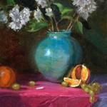 Still Life with Magenta -oil -11x14