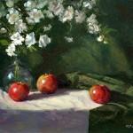 Three Apples -oil -11x14