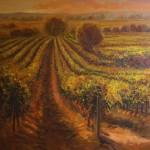 Golden Vineyard-Oil-36 x 36