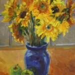 Sunflower Bouquet-Oil-12 x 9