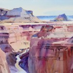 Canyon Panorama, Toroweap -Watercolor -15x21