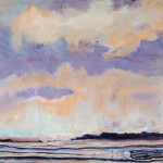 Earth & Heaven, 1 -Watermedia/clay -16x16