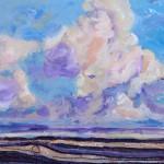 Earth & Heaven, 3 -Watermedia/clay -16x16
