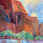 Zion, Flow of Time -Watercolor -30x22