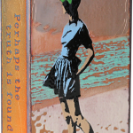 Beach Walk -fused glass & copper -8.5x5.25