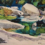 Dream Stone Reflections -Watercolor on Aquabord -22x30
