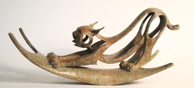 Bobcat Stretching -bronze