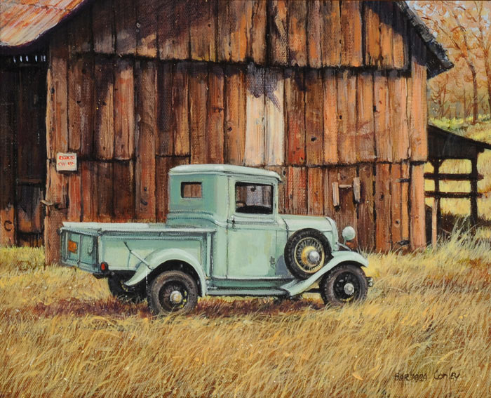 How To Paint A Barn In Acrylics