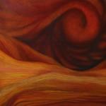 Desert Storm -oil pastel -20x29