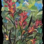 Indian Paintbrush -Collage -24x18
