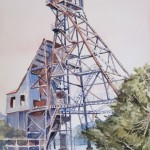 Kennedy Gold Mine #2-Watercolor-20 x 16