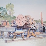 Kennedy Mining Equipment-Watercolor-16 x 20