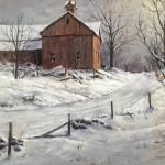Moonlit Snow -Acrylic -9x12