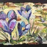 Spring Crocus -Collage -18x24