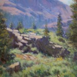 Toward Kennedy Meadow -Oil -12x9