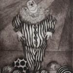 Untitled (Clown)-Etching Print-10x8