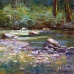 Light on the River -oil