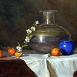 Still Life with Tangerines -oil -16x20