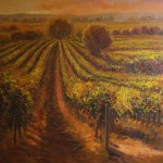 Golden Vineyard-Oil-36 x 36