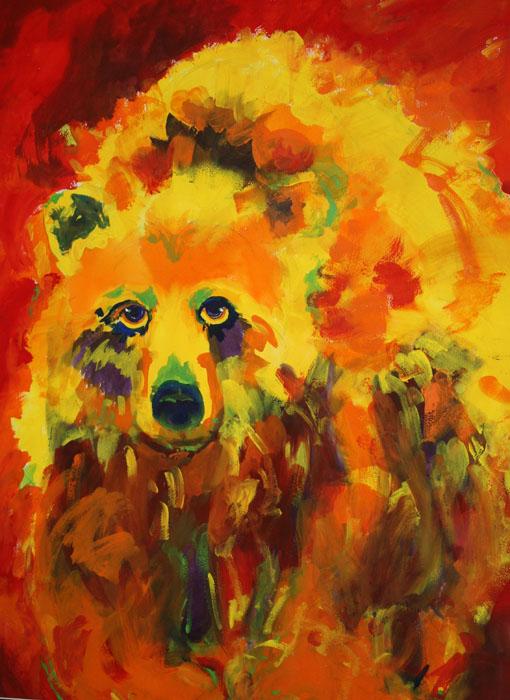 Bear of Zion -watercolor -30x22