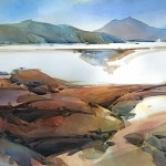 Dry Lakebed, Nevada -Watercolor -29x41