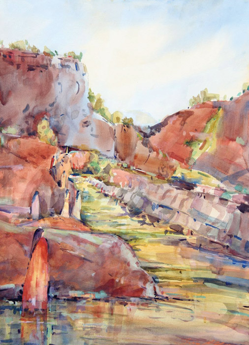 Virgin River -Watercolor -30x22