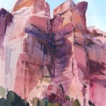 Zion Spires -Watercolor - 21x15