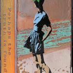 Beach Walk -fused glass & copper -8.5x5.25
