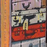 Bon Voyage fused glass & copper -8.5x5.25-