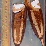 Bubbley -fused glass & copper -8.5x5.25