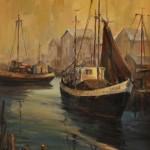 Dartmouth Harbor -Oil -18x14