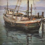 Marshal Boatworks -Oil -12x12
