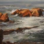 Sunlit Rocks -Oil -11x14