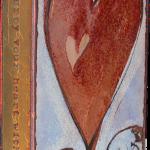 Turner Heart II -fused glass & copper -8.5x5.25