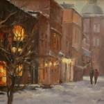 Winter Stroll -Oil -12x16