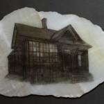JS Cain Residence -framed12x12 -photo stones