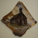Methodist Church, Bodie -framed 17x15 -photo stone